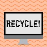 Writing note showing Recycle. Business photo showcasing Converting waste into reusable material. Writing note showing Recycle. Business photo showcasing royalty free illustration