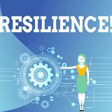 Writing note showing Resilience. Business photo showcasing Capacity to recover quickly from difficulties Persistence. Writing note showing Resilience. Business vector illustration
