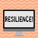 Writing note showing Resilience. Business photo showcasing Capacity to recover quickly from difficulties Persistence. Writing note showing Resilience. Business stock illustration