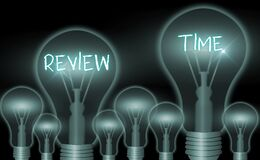 Free Writing Note Showing Review Time. Business Photo Showcasing To Think Or Talk About Something Again Set Schedule To Royalty Free Stock Photography - 183350057
