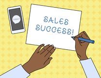 Writing note showing Sales Success. Business photo showcasing force to close more deals and increase margins Make more vector illustration