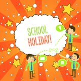 Writing note showing School Holiday. Business photo showcasing the periods during which schools are closed from study. Writing note showing School Holiday stock illustration