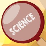 Writing note showing Science. Business photo showcasing Study of physical world structure behavior Experimental research.  royalty free illustration
