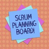 Writing note showing Scrum Planning Board. Business photo showcasing visual display of the progress of the Scrum team. Multiple Layer of Sheets Color Paper vector illustration