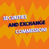 Writing note showing Securities And Exchange Commission. Business photo showcasing Safety exchanging commissions. Financial Geometric Design Zigzag Blank Text vector illustration