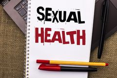 Writing note showing Sexual Health. Business photo showcasing STD prevention Use Protection Healthy Habits Sex Care written on No. Writing note showing Sexual stock photos