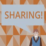 Writing note showing Sharing. Business photo showcasing To Share Give a portion of something to another Possess in. Writing note showing Sharing. Business stock illustration