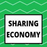Writing note showing Sharing Economy. Business photo showcasing economic model based on providing access to goods Big. Writing note showing Sharing Economy vector illustration