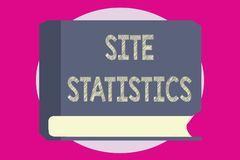 Writing note showing Site Statistics. Business photo showcasing measurement of behavior of visitors to certain website.  stock illustration