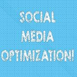 Writing note showing Social Media Optimization. Business photo showcasing Digital strategy Generate viral publicity Seamless Polka. Dots Pixel Effect for Web vector illustration