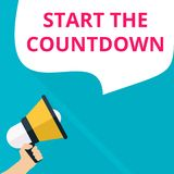 Writing note showing Start The Countdown royalty free illustration