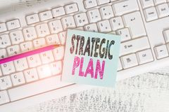 Free Writing Note Showing Strategic Plan. Business Photo Showcasing A Systematic Process Of Envisioning A Desired Future Royalty Free Stock Images - 163912799