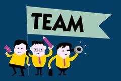Writing note showing Team. Business photo showcasing Group of people working together Classed and share certain beliefs.  stock illustration
