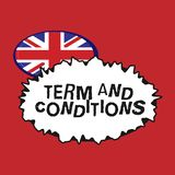 Writing note showing Term And Conditions. Business photo showcasing Policies and Rules where one must Agree to Abide.  royalty free illustration