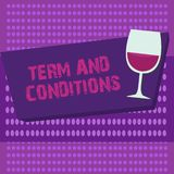 Writing note showing Term And Conditions. Business photo showcasing Policies and Rules where one must Agree to Abide.  vector illustration