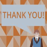 Writing note showing Thank You. Business photo showcasing Appreciation greeting Acknowledgment Gratitude. vector illustration