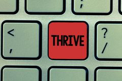 Writing note showing Thrive. Business photo showcasing Think positively Continue to prosper and flourish Time to Blossom.  royalty free stock photography