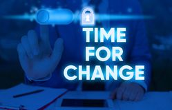 Free Writing Note Showing Time For Change. Business Photo Showcasing Changing Moment Evolution New Beginnings Chance To Grow. Royalty Free Stock Images - 165339849