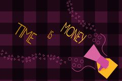 Writing note showing Time Is Money. Business photo showcasing Better to do things as quickly as possible Do not delay.  royalty free stock photos