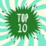 Writing note showing Top 10. Business photo showcasing List of most demanding Trending songs movies shows online in. Order vector illustration