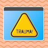 Writing note showing Trauma. Business photo showcasing Disturbing physical and emotional injuries shock experience Blank
