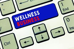 Writing note showing Wellness Business. Business photo showcasing Professional venture focusing the health of mind and body.  stock photos