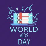 Writing note showing World Aids Day. Business photo showcasing 1st December dedicated to raising awareness of the AIDS.  Vector Illustration