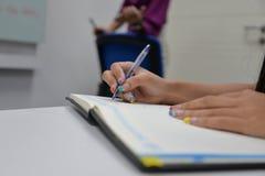Writing note Stock Photo