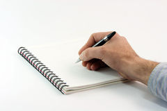 Writing on notebook Royalty Free Stock Photography