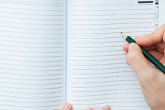 Writing in the notebook Royalty Free Stock Photo