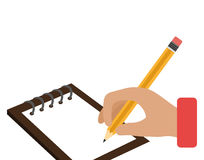 Writing in notebook school isolated icon Stock Photography