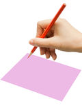 Writing or Notes with hand. Stance in write Notes with hand Royalty Free Stock Photo