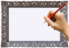 Writing or Notes with hand. Stance in write Notes with hand Royalty Free Stock Photos
