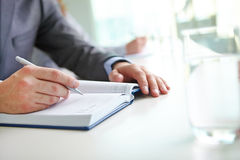 Writing notes or plan Stock Images