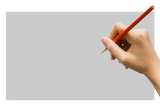 Writing or Notes. Stance in write Notes with hand Royalty Free Stock Photo
