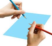 Writing or Notes. Stance in write Notes with hand and work busy Royalty Free Stock Images