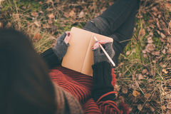 Writing notes Royalty Free Stock Photography
