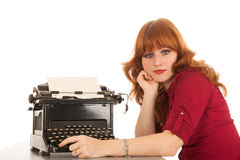 Writing with old technique Stock Photography