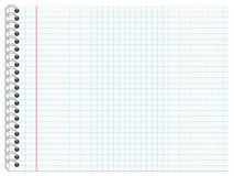Writing Pad with checkered Lines, Landscape Format Stock Photo