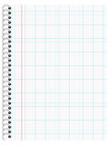 Writing Pad with checkered Lines Royalty Free Stock Images