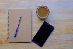 Writing pad with pencil Royalty Free Stock Images