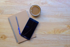 Writing pad with pencil Royalty Free Stock Photos
