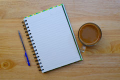 Writing pad with pencil Royalty Free Stock Photography