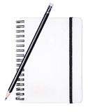Writing pad with a pencil Stock Photography