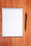 Writing Pad On The Table Royalty Free Stock Photos
