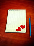 Writing Pad on the Table Royalty Free Stock Photo