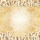Writing pad. Vintage background with the letters Royalty Free Stock Photography