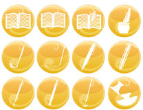 Writing and painting icons Royalty Free Stock Photo