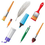 Writing and painting tools Royalty Free Stock Photo