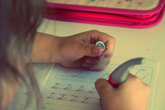 Writing on a paper Royalty Free Stock Photography